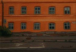 The orange wall