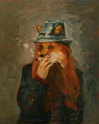 Self portrait as fox