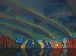 The grafitti under the bridge